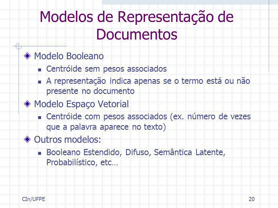 Modelos de Representação de Documentos