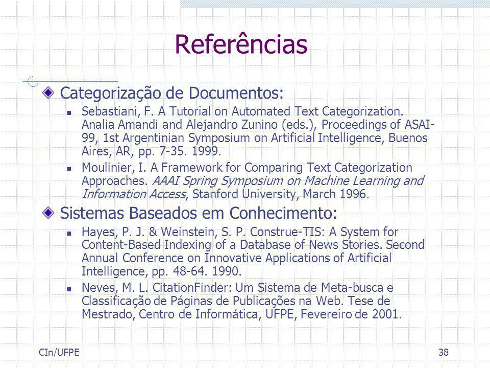 Referências Categorização de Documentos: