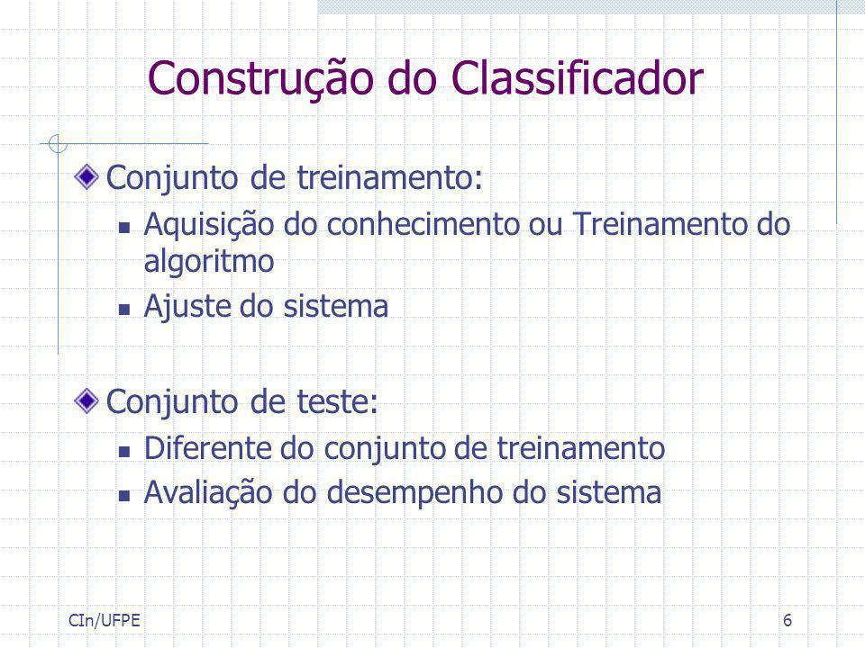 Construção do Classificador