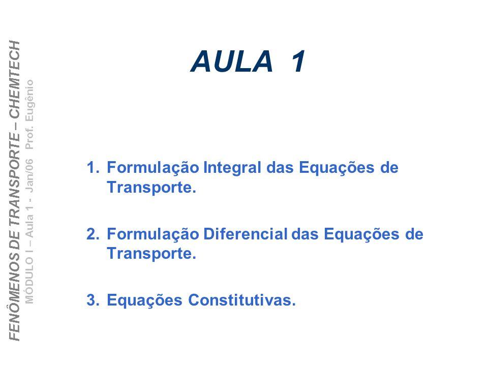 AULA 1 Formulação Integral das Equações de Transporte.