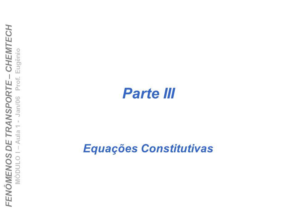 Equações Constitutivas