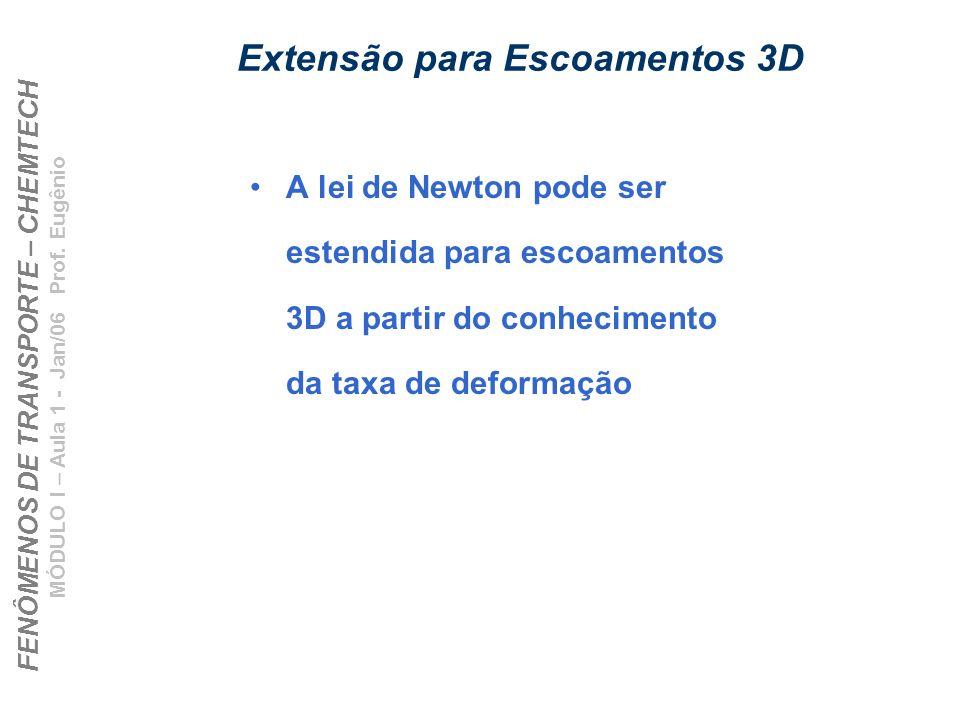 Extensão para Escoamentos 3D