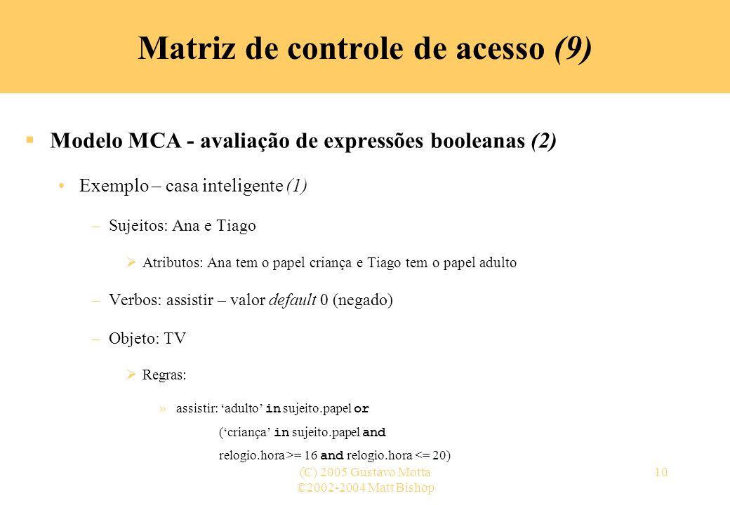 Matriz de controle de acesso (9)