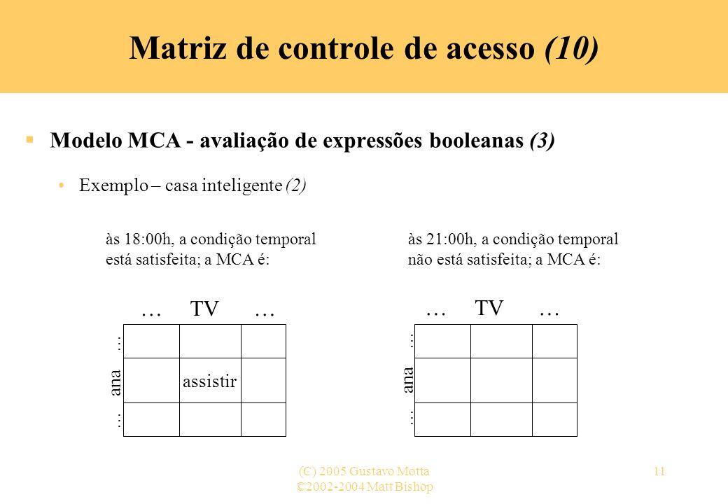 Matriz de controle de acesso (10)