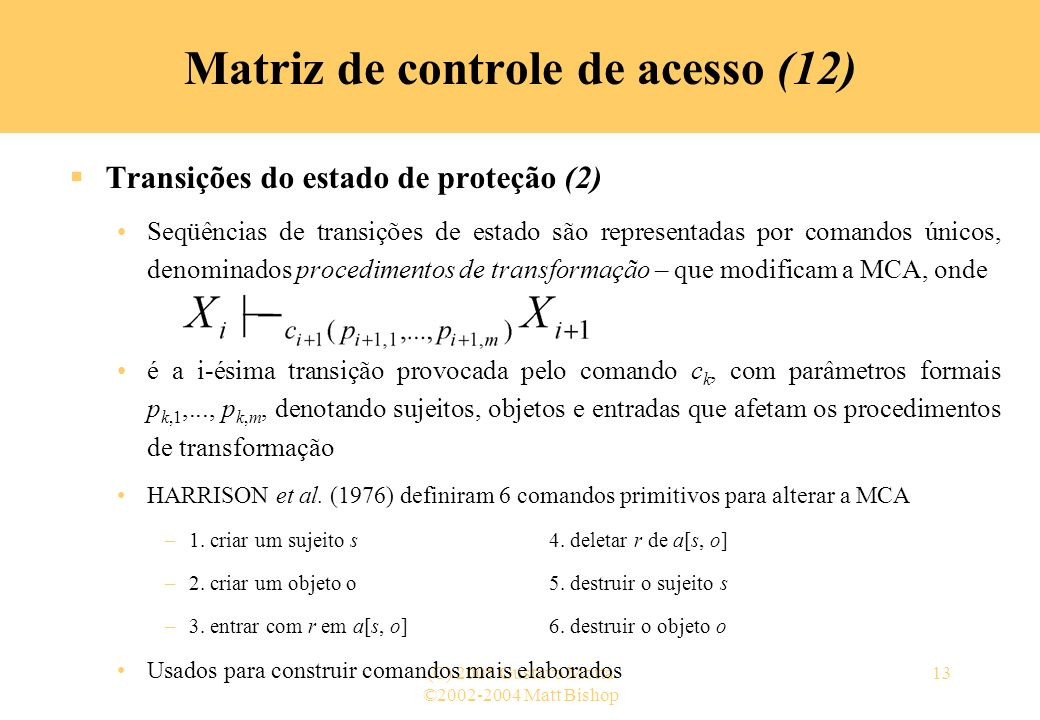 Matriz de controle de acesso (12)