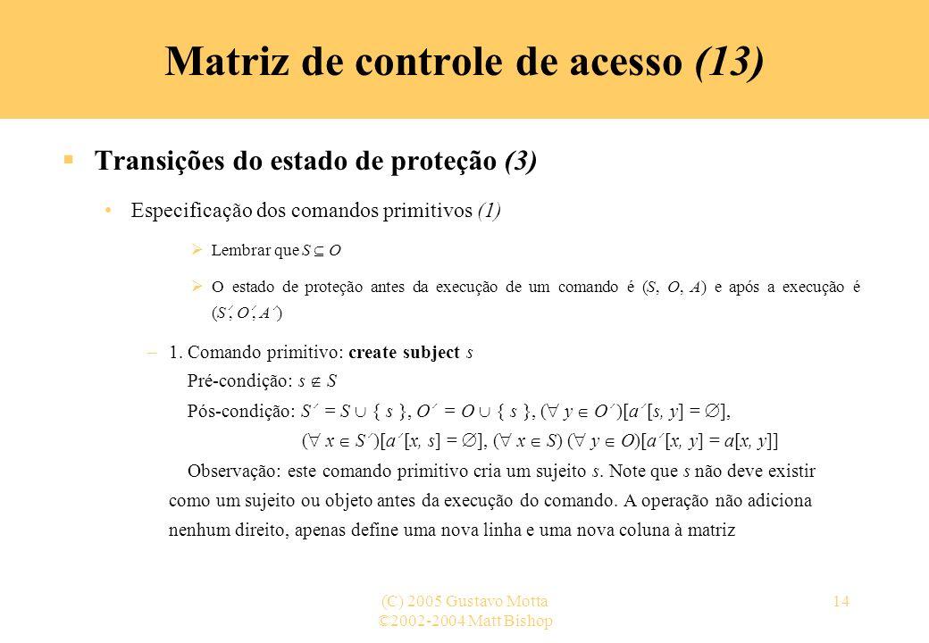 Matriz de controle de acesso (13)