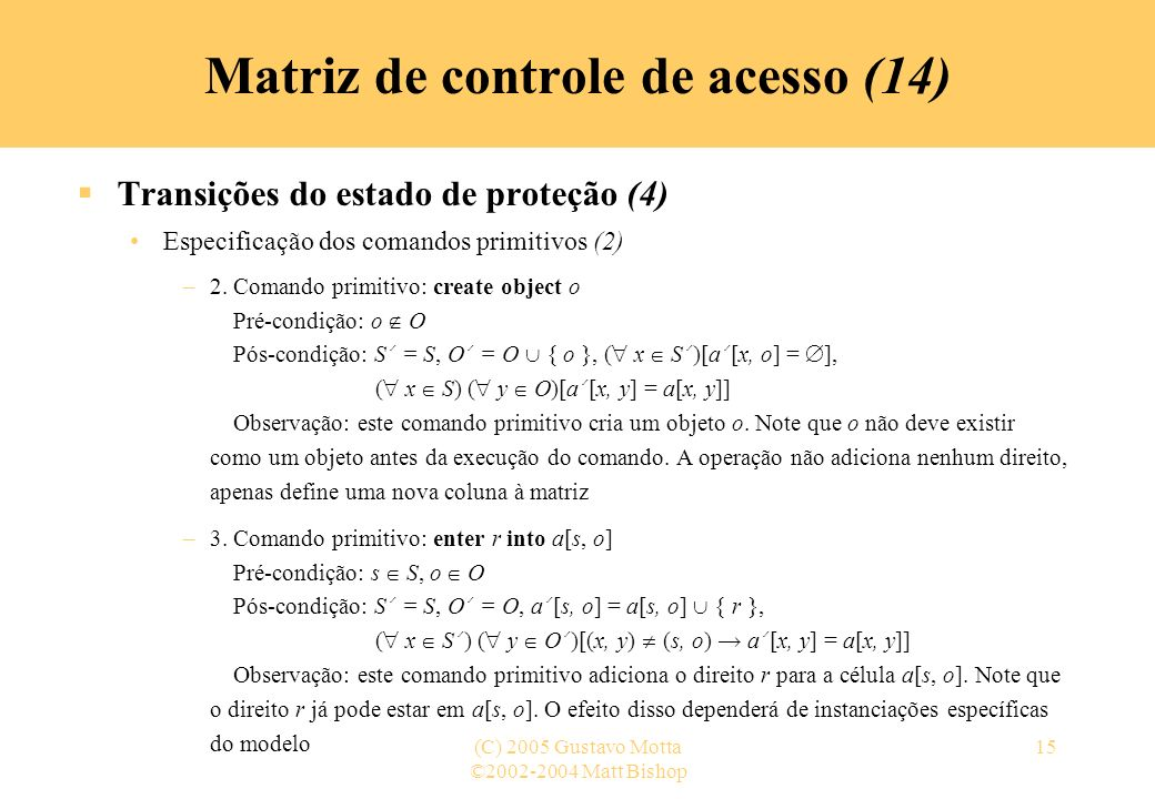 Matriz de controle de acesso (14)