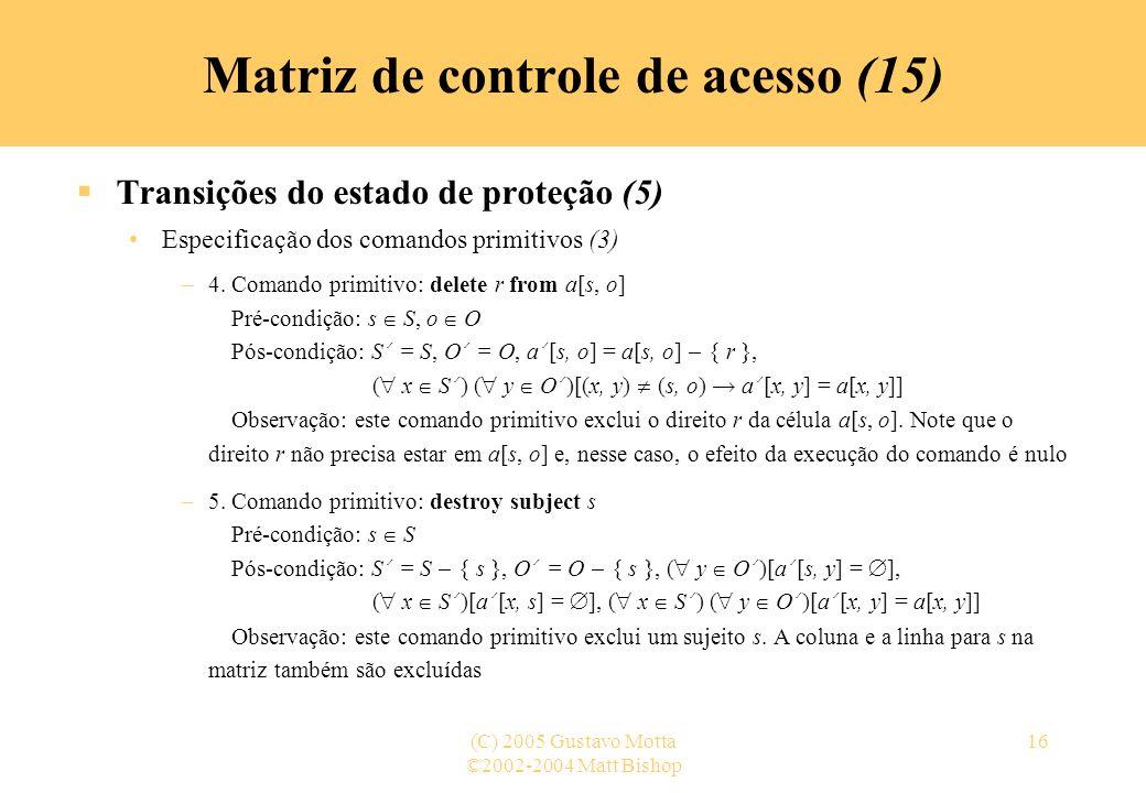 Matriz de controle de acesso (15)