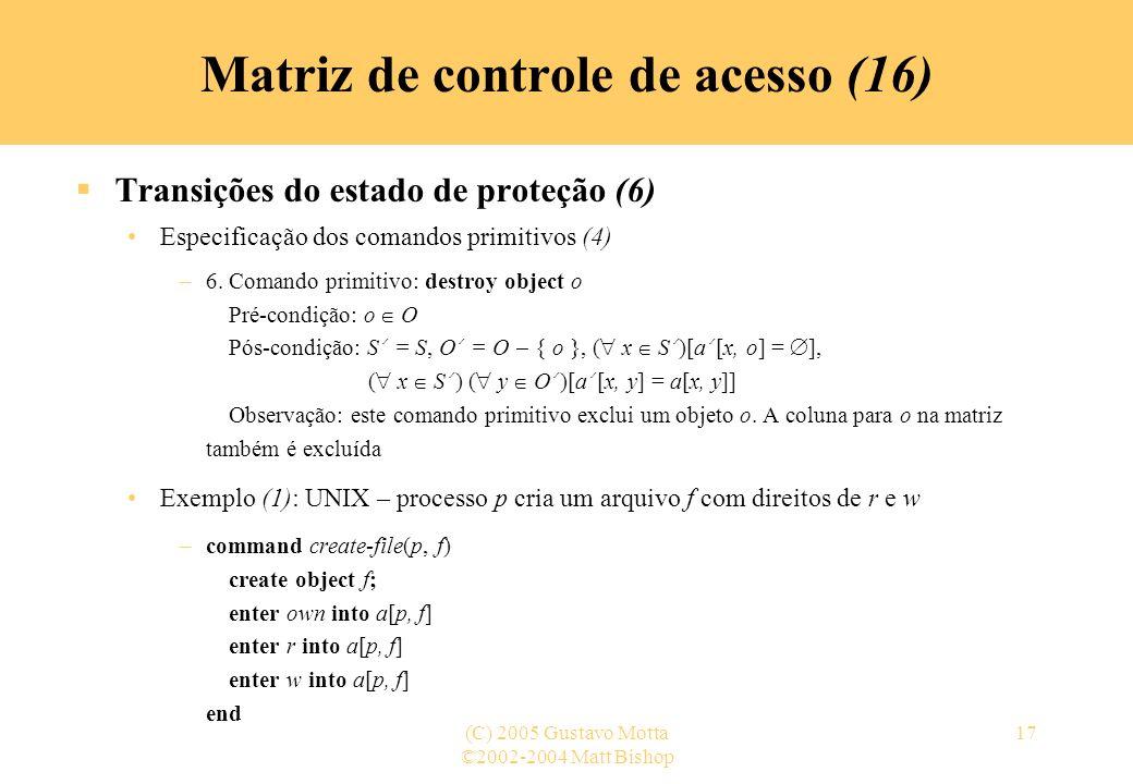 Matriz de controle de acesso (16)