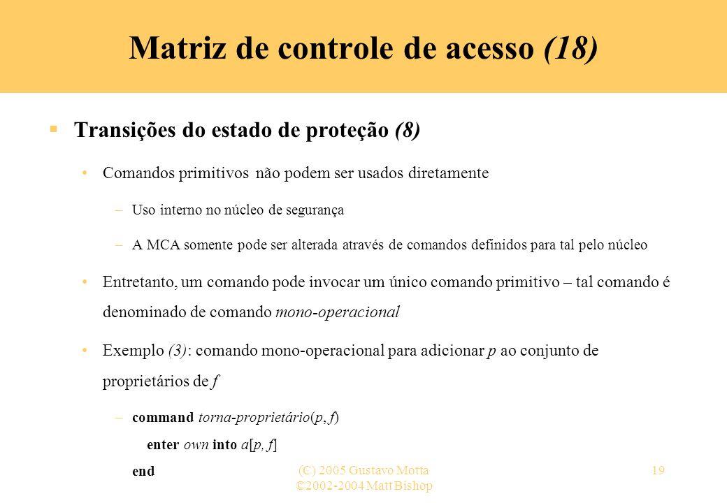 Matriz de controle de acesso (18)