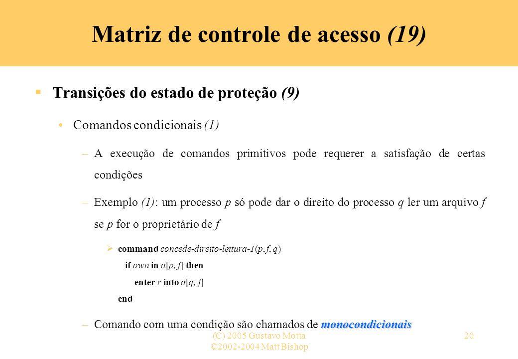 Matriz de controle de acesso (19)