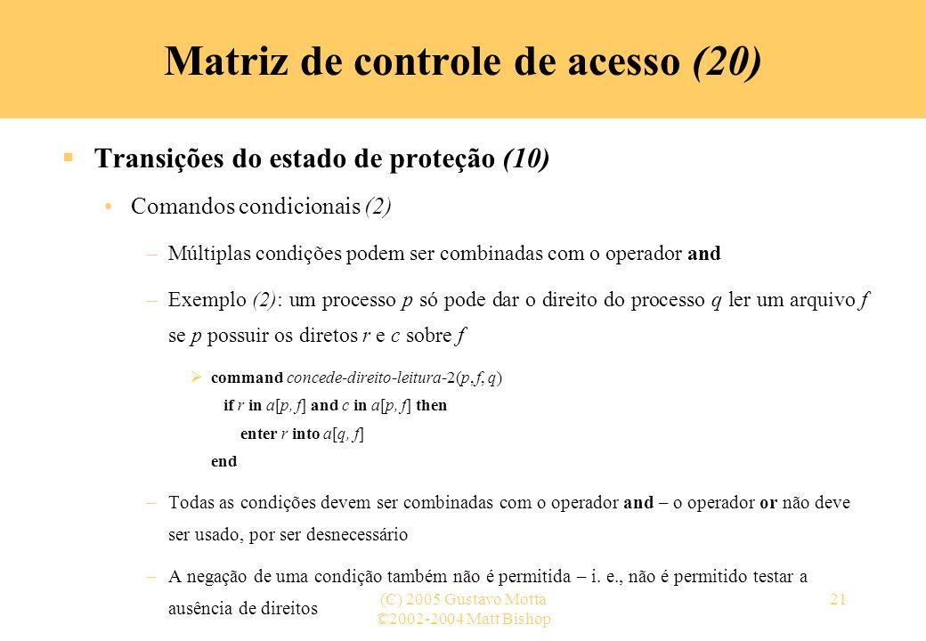 Matriz de controle de acesso (20)