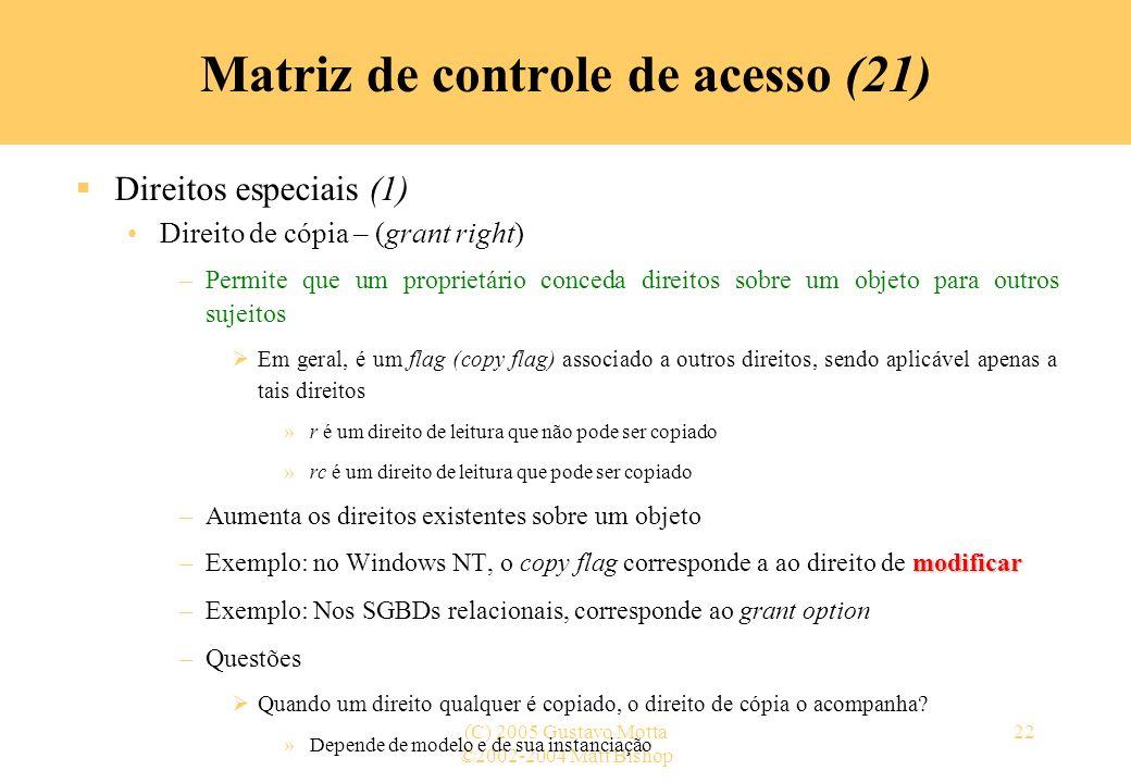 Matriz de controle de acesso (21)