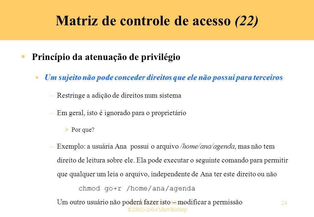 Matriz de controle de acesso (22)