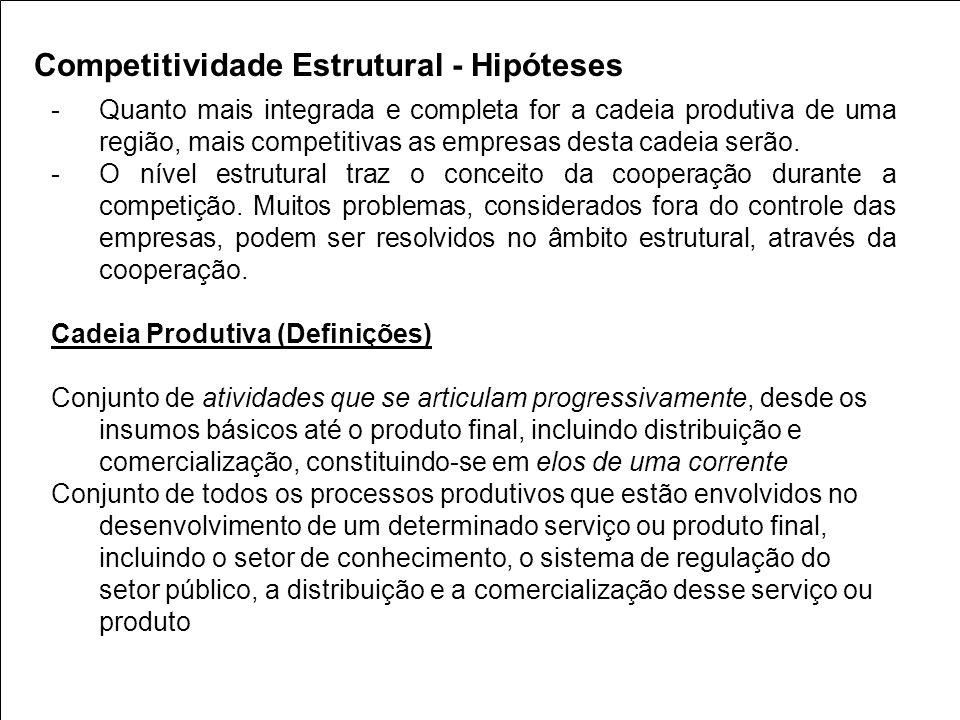 Competitividade Estrutural - Hipóteses