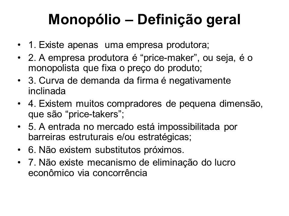 Monopólio – Definição geral