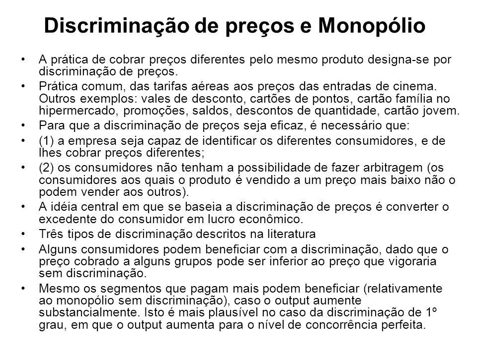 Discriminação de preços e Monopólio