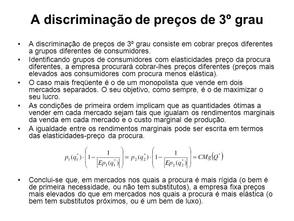 A discriminação de preços de 3º grau