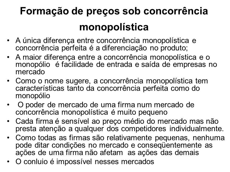 Formação de preços sob concorrência monopolística