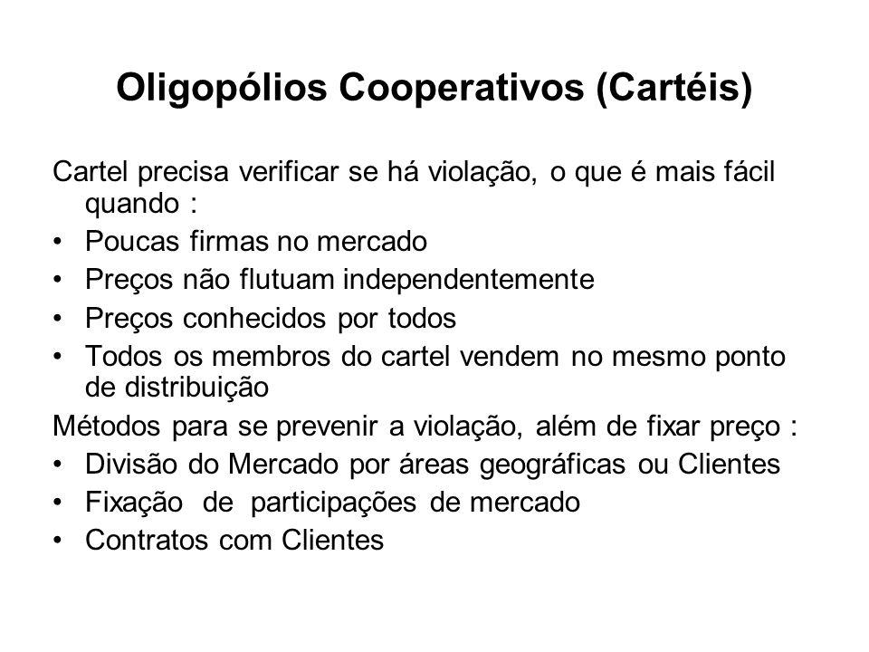 Oligopólios Cooperativos (Cartéis)