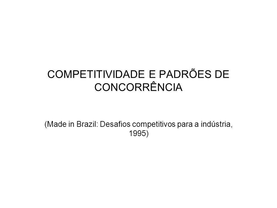 COMPETITIVIDADE E PADRÕES DE CONCORRÊNCIA