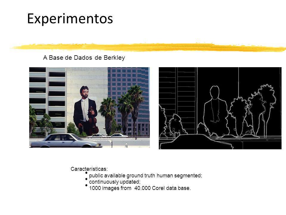 Experimentos A Base de Dados de Berkley Características: