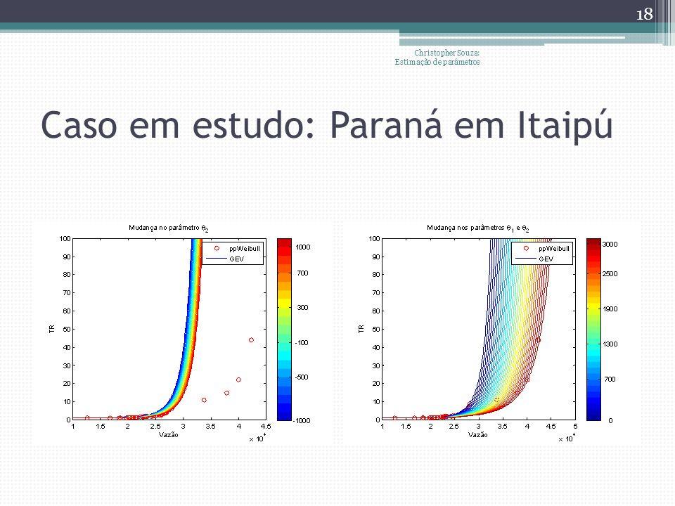 Caso em estudo: Paraná em Itaipú