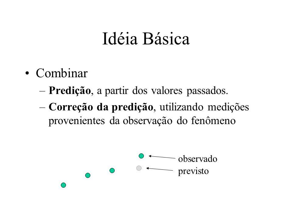 Idéia Básica Combinar Predição, a partir dos valores passados.