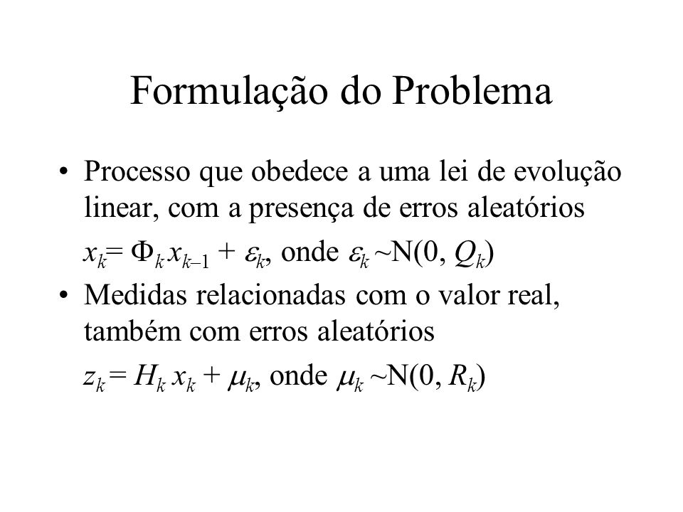 Formulação do Problema
