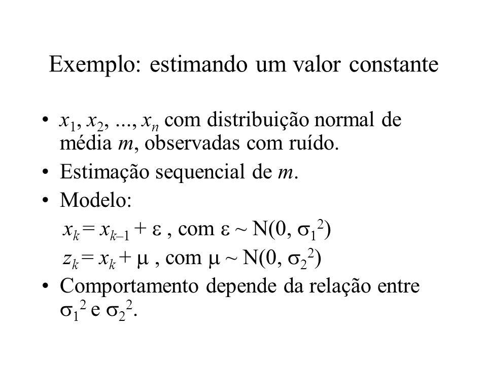 Exemplo: estimando um valor constante