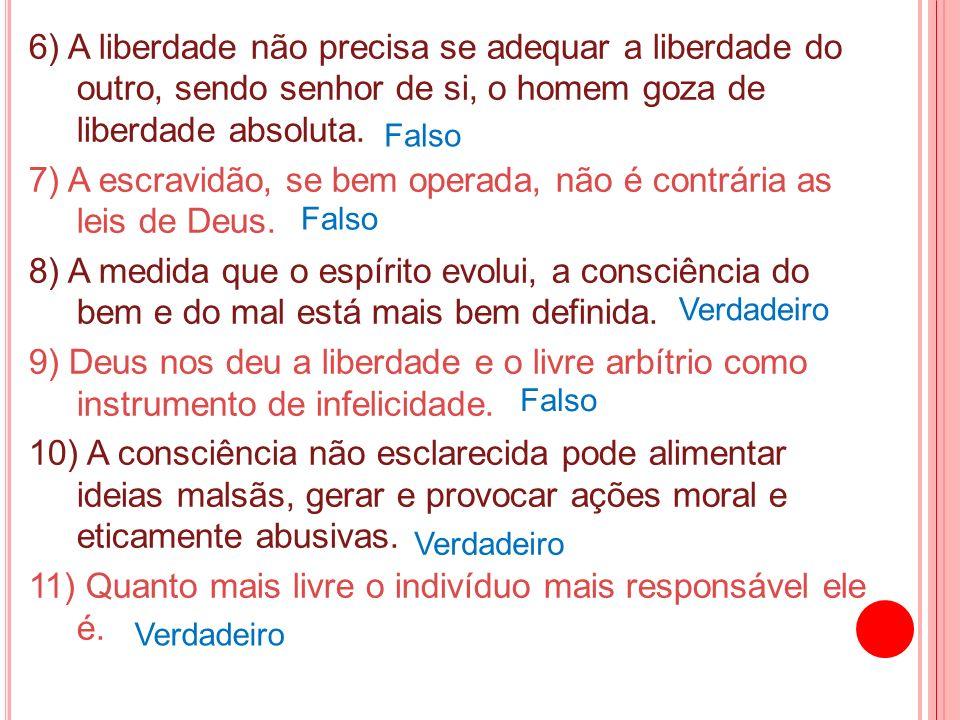 7) A escravidão, se bem operada, não é contrária as leis de Deus.