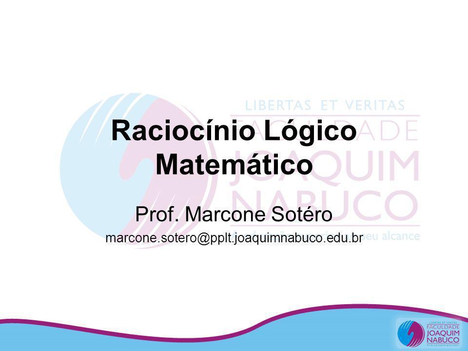 Raciocínio Lógico Matemático