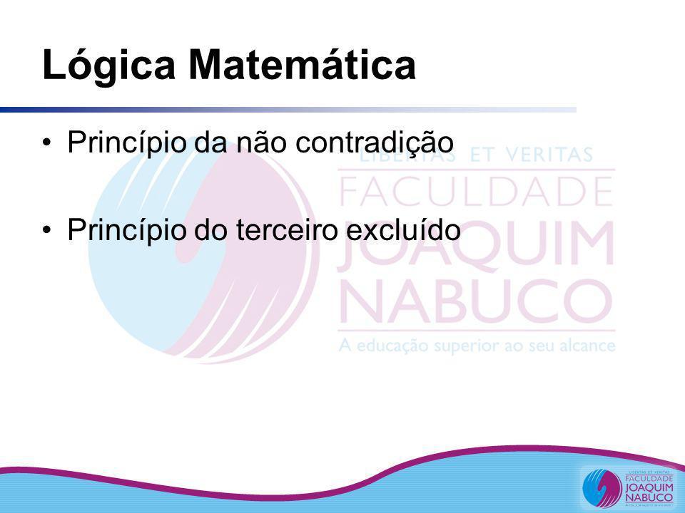 Lógica Matemática Princípio da não contradição