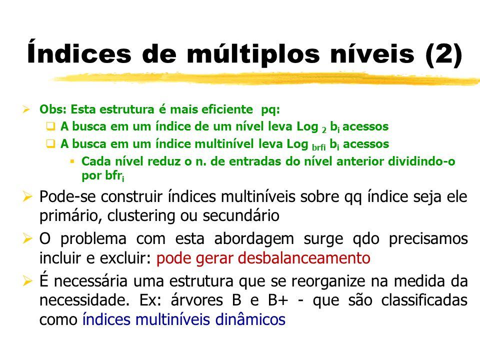 Índices de múltiplos níveis (2)