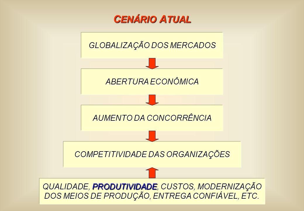 CENÁRIO ATUAL GLOBALIZAÇÃO DOS MERCADOS ABERTURA ECONÔMICA