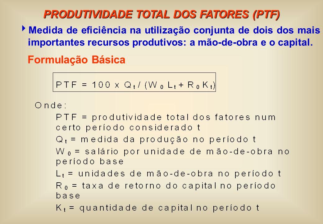 PRODUTIVIDADE TOTAL DOS FATORES (PTF)