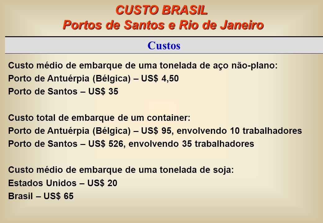 Portos de Santos e Rio de Janeiro