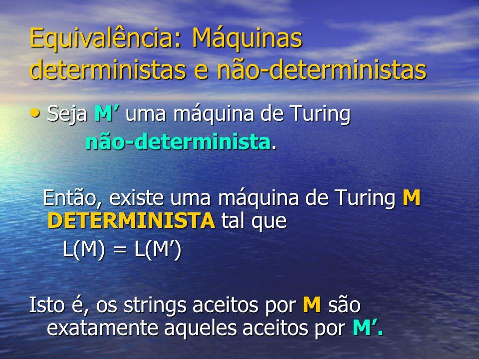 Equivalência: Máquinas deterministas e não-deterministas