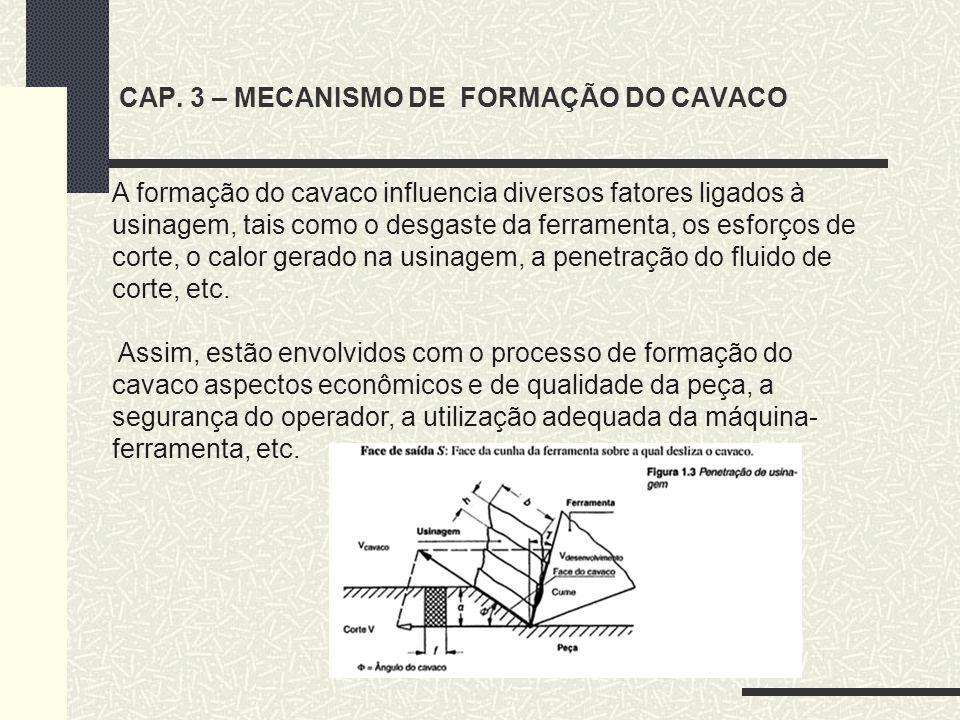 CAP. 3 – MECANISMO DE FORMAÇÃO DO CAVACO