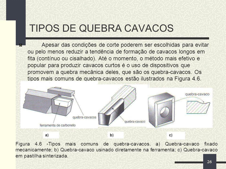 TIPOS DE QUEBRA CAVACOS