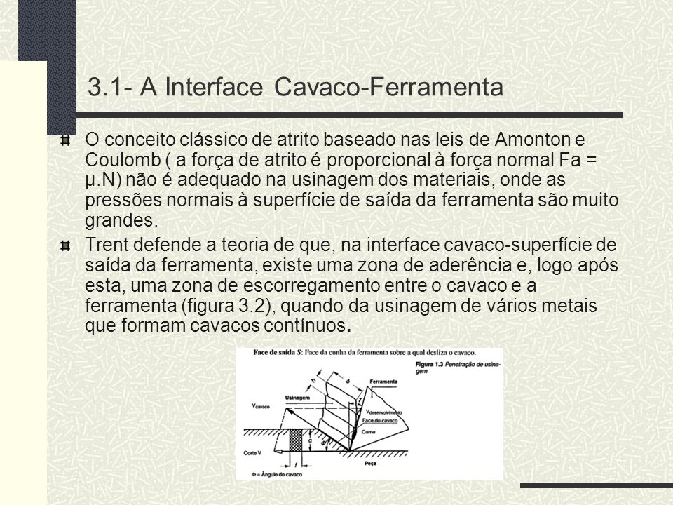 3.1- A Interface Cavaco-Ferramenta