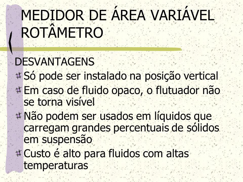 MEDIDOR DE ÁREA VARIÁVEL ROTÂMETRO