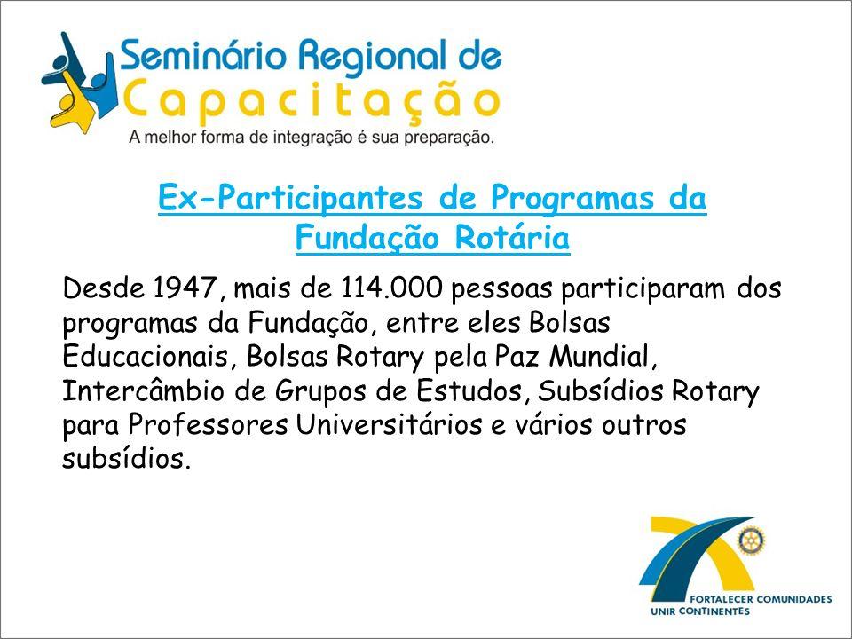 Ex-Participantes de Programas da Fundação Rotária