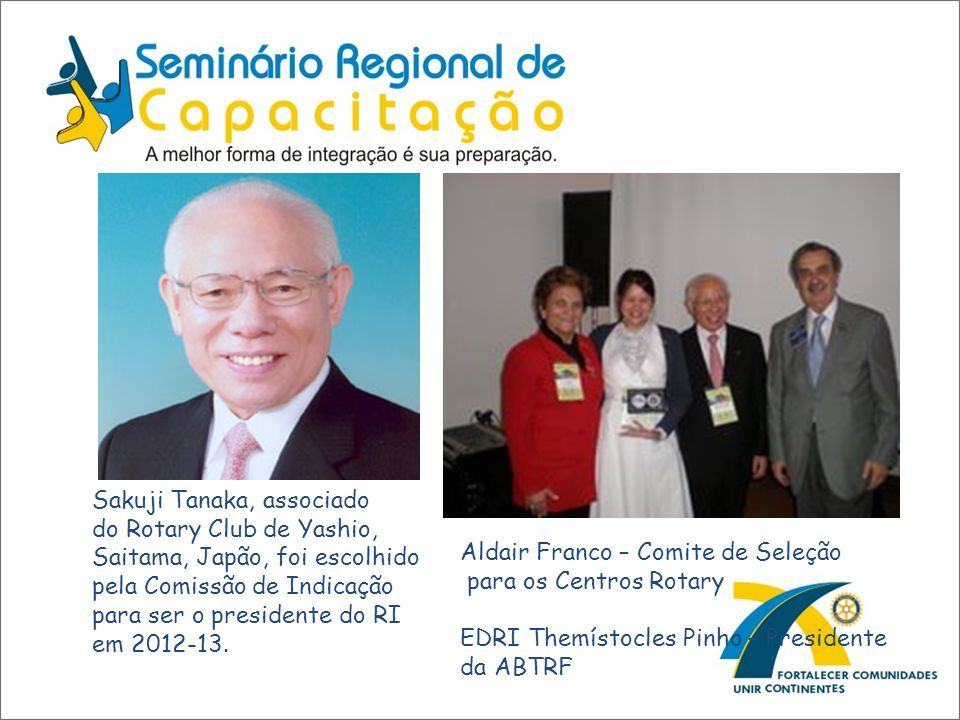 Aldair Franco – Comite de Seleção para os Centros Rotary