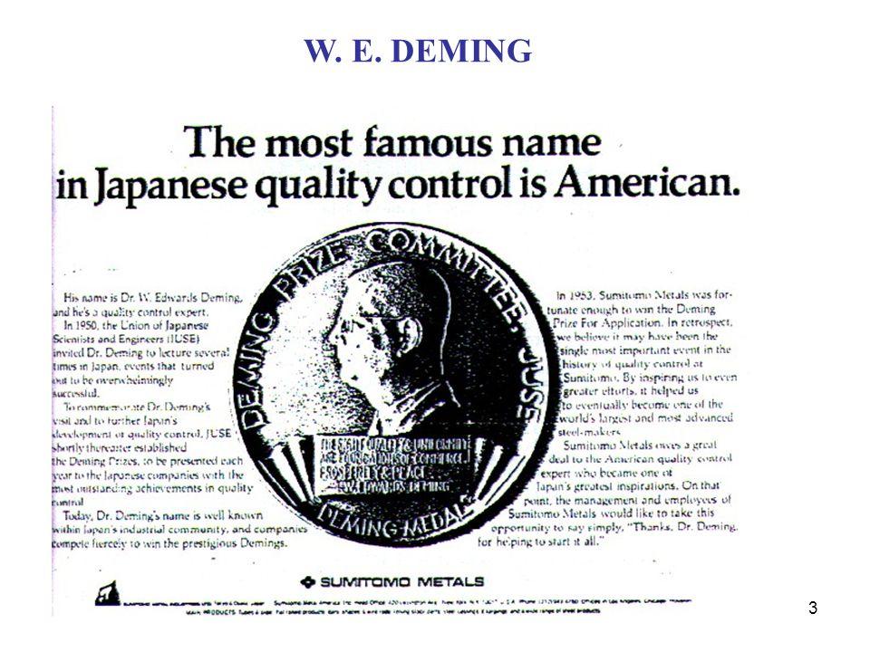 W.E. DEMING W. E. DEMING