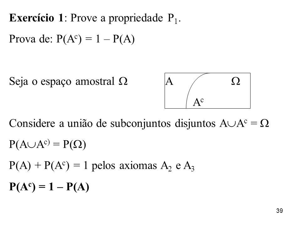 Exercício 1: Prove a propriedade P1.