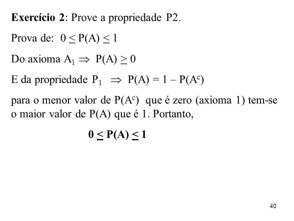 Exercício 2: Prove a propriedade P2.