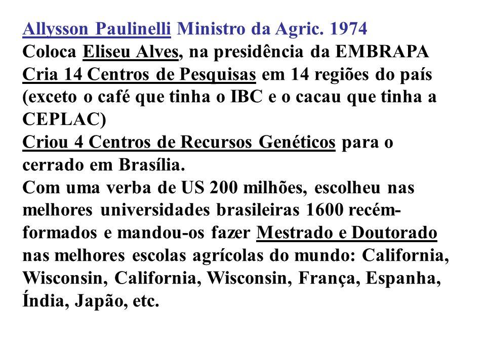 Allysson Paulinelli Ministro da Agric. 1974 linelli