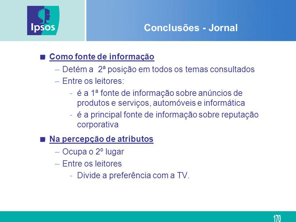 Conclusões - Jornal Como fonte de informação