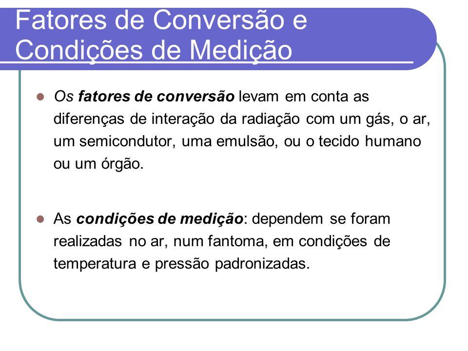 Fatores de Conversão e Condições de Medição